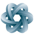 impossible three circles icon vector image vector image
