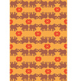 indian elephant orange background vector image
