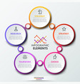 infographic design template with 5 connected vector image vector image