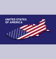 isometric national flag usa american vector image vector image