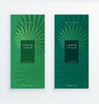 leaves banners set in green color vector image