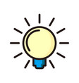 light bulb icon isolated on white line icon vector image vector image