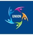 logo union people vector image vector image