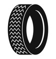 machine tire icon simple style vector image