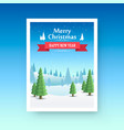 merry christmas cover art vector image vector image