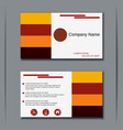 Modern visiting card design vector image vector image