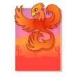 orange phoenix vector image