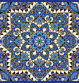ornate blue pattern vector image vector image