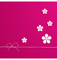 pink card with flowers vector image vector image