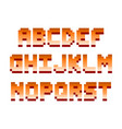 pixel retro font computer game design vector image