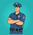 policeman pop art vector image vector image