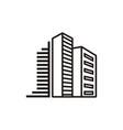 real estate apartments logo vector image vector image