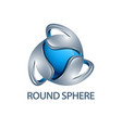round sphere logo concept design three vector image