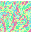 Seamless floral pattern with abstract feathers vector image