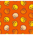 seamless infinite background with skulls vector image