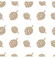 seamless pattern with hand drawn beer hop design vector image vector image