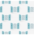 seamless pattern with windows in flat style vector image vector image
