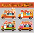 set food truck vector image vector image