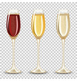 set of different drink in the glass vector image