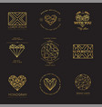 set of geometric icons vector image vector image