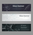 set of of broken glass vector image