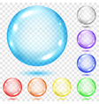 Set of transparent colored spheres vector image vector image