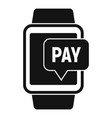 smartwatch nfc payment icon simple style vector image vector image