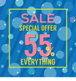 Special Offer 55 Percent On Colorful Blue Bubbles vector image vector image
