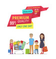 special offer banners with parents and children vector image vector image
