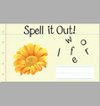 spell it out flower vector image vector image