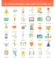 startup and development color flat icon set vector image vector image