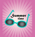 summer background green blue sun glasses on pink vector image