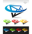 Swoosh Mail Logo Icon vector image vector image