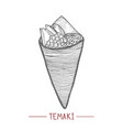 temaki in hand drawn style vector image vector image