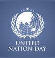 united nation day letter background vector image vector image
