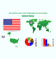 united states all countries of the world vector image vector image
