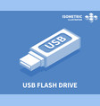 usb flash drive icon isometric template vector image vector image