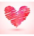Watercolor scribble heart vector image