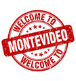welcome to montevideo vector image vector image