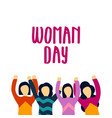 woman day template design vector image vector image