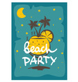 Party on the beach vector image