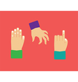 objects hands vector image