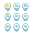 Weather web elements vector image