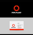 pipes logo pipes emblem pipeline icon vector image