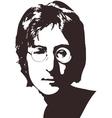 A of a portrait of singer John vector image