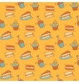 Pattern with ccupcakes vector image