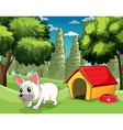 A doghouse at the park vector image vector image