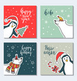 a greeting card happy new vector image vector image