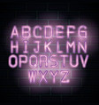 alphabet neon label icon vector image