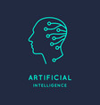 artificial intelligence conceptual sign and logo vector image vector image